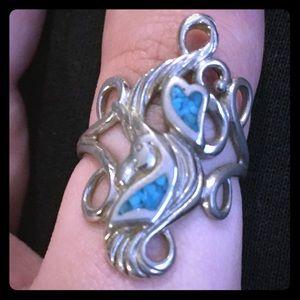 Silver&Opal Hidden Unicorn Ring